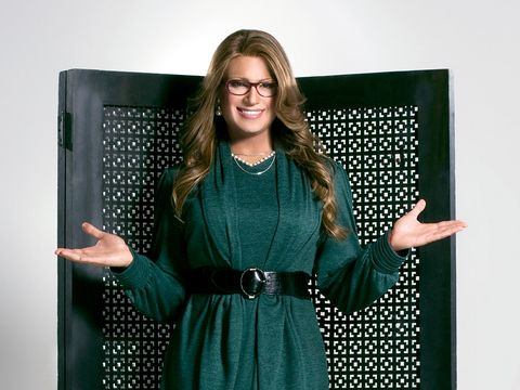Green, Pattern, Design, Polka dot, Dress, Photography, Long hair, Gesture,