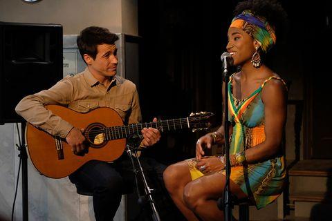 Musician, Music, Guitar, Entertainment, String instrument, Performance, String instrument, Singing, Acoustic guitar, Musical instrument,