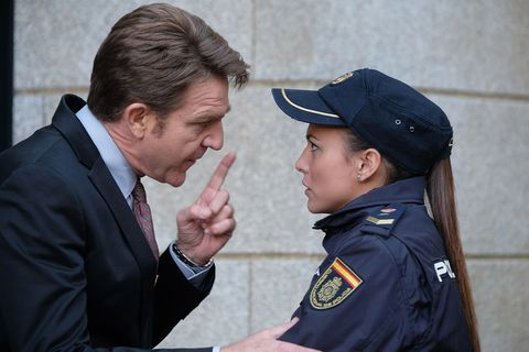 Police officer, Official, Gesture, Police, Security, Uniform, Law enforcement, Military officer, Conversation,