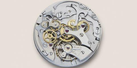 Watch, Metal, Circle, Home accessories, Clock, Analog watch, Symbol, Silver, Quartz clock, Bronze,