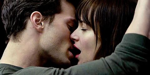 Dakota Johnson and Jamie Doran in Fifty Shades of Grey