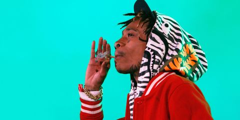 Wiz Khalifa Smoking Weeed
