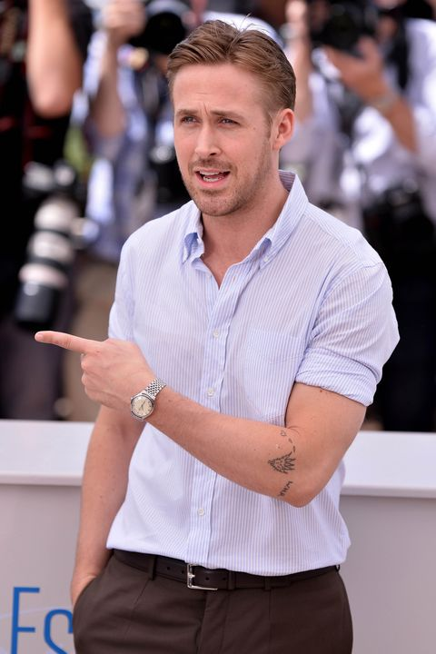 CANNES, FRANCE - MAY 20 :  Canadian actor and director Ryan Gosling poses during a photocall for the film 'Lost River' at the 67th Cannes Film Festival in Cannes, France on May 20, 2014. (Photo by Mustafa Yalcin/Anadolu Agency/Getty Images)