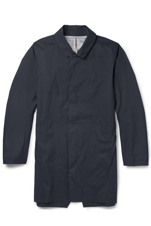 "This is a technical Gore-Tex jacket disguised as city wear. Go wherever you want with it, but it will certainly work on your way to the boardroom.   <em>Veilance partition lightweight waterproof  jacket ($650) by Arc'teryx, <a href=""http://www.mrporter.com/en-us/mens/arcteryx_veilance/partition-lightweight-waterproof-jacket/503448"" target=""_blank"">mrporter.com</a></em>"