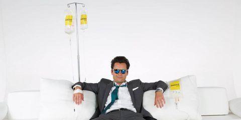 Eyewear, Vision care, Goggles, Hand, Sitting, Sunglasses, Tie, Plastic, Cylinder, Plastic bottle,