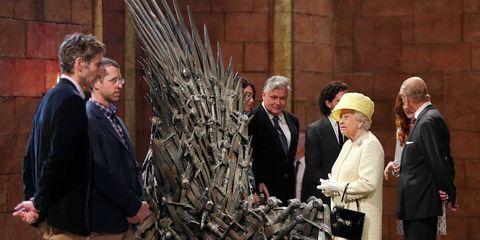 Queen Elizabeth Game of Thrones Iron Throne