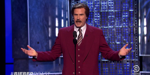 Watch the Best Burns from Will Ferrell, Hannibal Buress, Martha Stewart, and More at the Roast of Justin Bieber