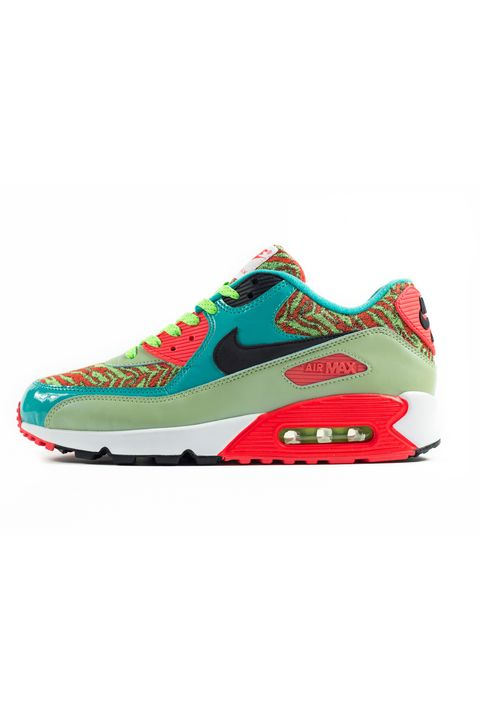 "These are the loudest Air Max 90s of the bunch, and though we can't be that mad at some shaggy zebra-patterned panels next to shades of pale green, turquoise, and infrared, this shoe is just a bit too groovy for us, so we're putting it at the bottom of the list.    <em>'Lime Green' Air Max 90 Anniversary sneaker ($162.83) by Nike, <a target=""_blank"" href=""http://sizestores.co.uk/hq/2015/03/28/nike-air-max-90-25th-anniversary-collection/"">size.co.uk</a></em>"