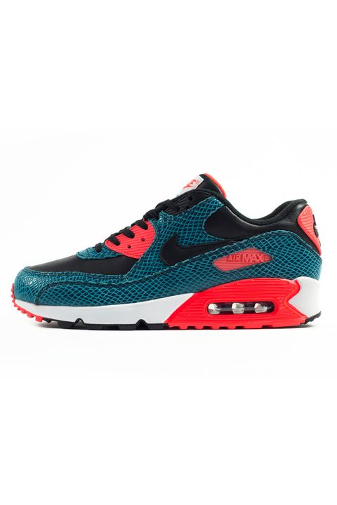 "This is a decent color combo, but blue snakeskin just feels a bit, well, reptilian to us, so these have got to go at number five on our list.   <em>'Blue Snakeskin' Air Max 90 Anniversary sneaker ($162.83) by Nike, <a target=""_blank"" href=""http://sizestores.co.uk/hq/2015/03/28/nike-air-max-90-25th-anniversary-collection/"">size.co.uk</a></em>"