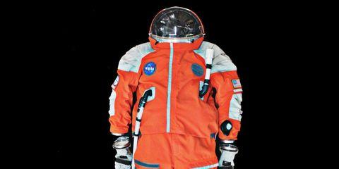 Astronaut, Sleeve, Personal protective equipment, Workwear, Space, Orange, Helmet, Costume design, Illustration, Costume,