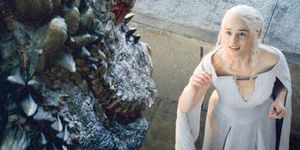 Daenerys Targaryen and Her Dragon - Game of Thrones Season 5