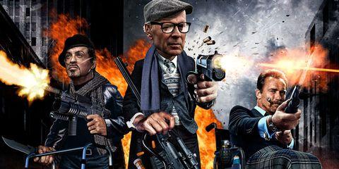 Viola, Machine gun, Shotgun, Air gun, Tartan, Shooting, Animation, Plaid, Fire, Action film,