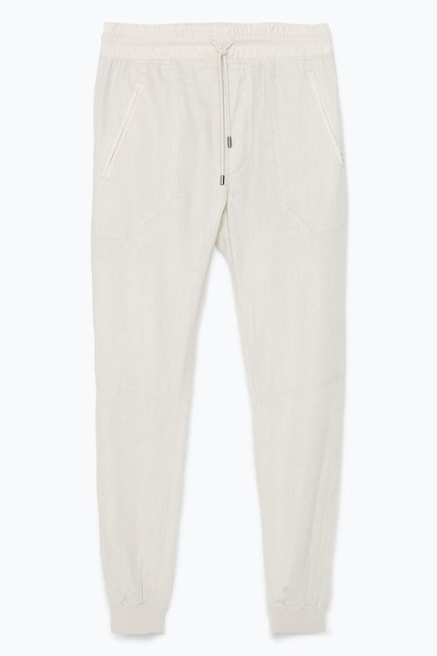 "Airy linen is one of the best warm-weather materials on earth, which means you can wear these all summer long.   <em>Linen jogging pants ($79.90) by Zara, <a target=""_blank"" href=""http://www.zara.com/us/en/man/trousers/view-all/linen-jogging-pants-c719514p2442552.html"">zara.com</a></em>"