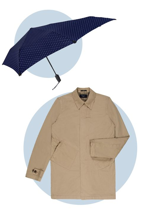 Flout convention with a casual fit inspired by mid'-60s surfers. The umbrella makes it playful with low-key dots and a quirky shape. 