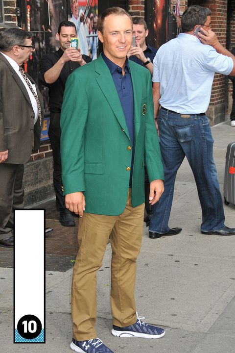 <p>This blazer is huge and doesn't really fit, but only a proud few get to don the green Master's blazer. And this guy's only 21. Plus, green blazers are dope.</p>