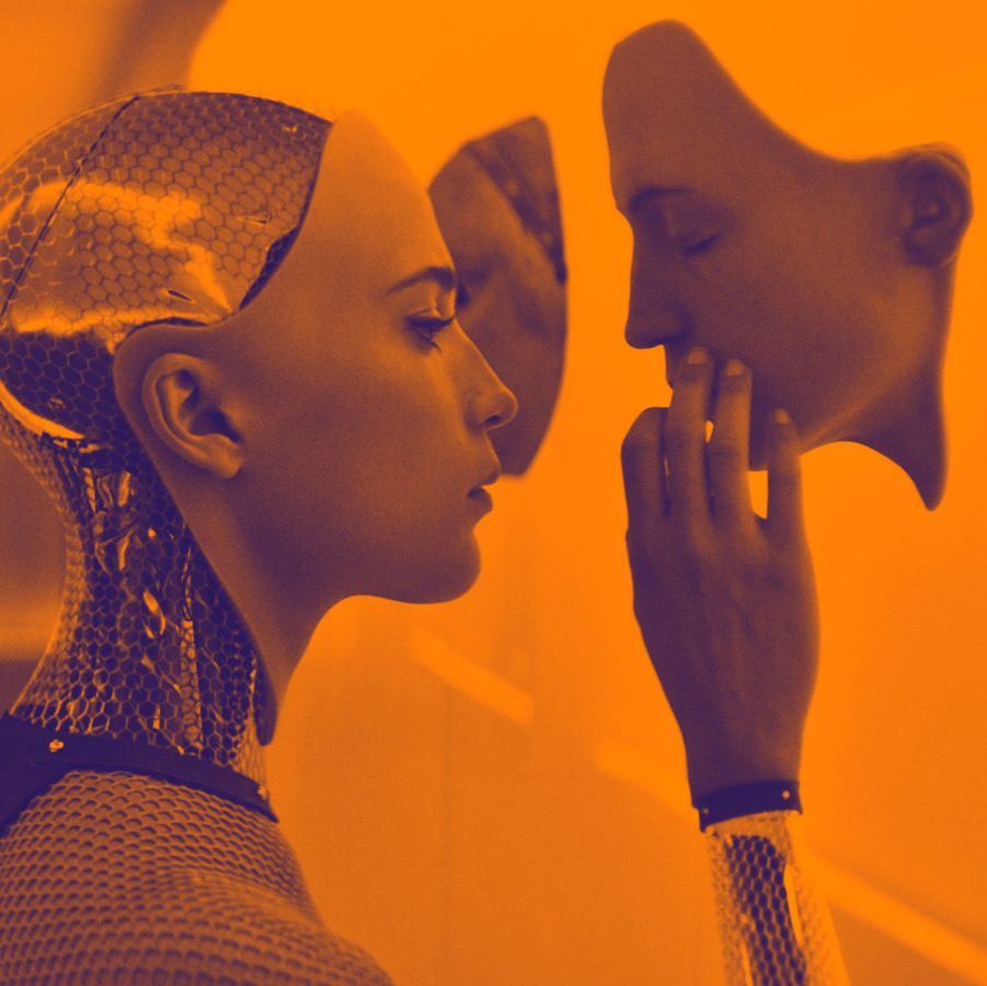 Ex Machina This mind-bending sci-fi thriller sees a computer programmer invited to his boss's secluded home in order to administer an intelligence test on his latest creation: a gorgeous robot played by Alicia Vikander.