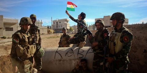 Kurdish Peshmerga Fighters in Syria