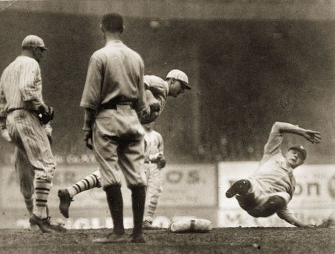 Babe Ruth Out 1922 World Series Game Two