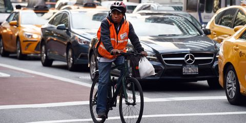 delivery man in new york city