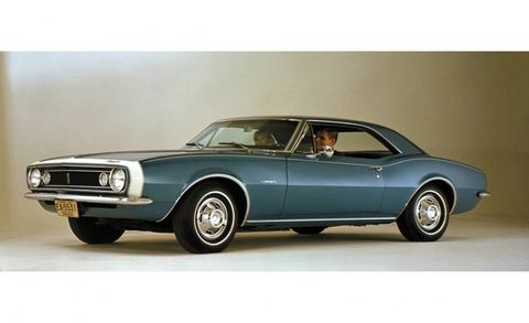 The first Camaro went on sale in September 1966 with a base price of $2466. Just over 220,000 were sold that first year compared to more than 480,000 Mustangs during the same period. The base engine was a 230-cubic-inch (3.8-liter) straight-six rated at 140 gross horsepower. The option list was long and included four different small-block V-8s and two big-blocks. The top choice was the 375-hp, 396-cubic-inch (6.5-liter) L78 big-block.