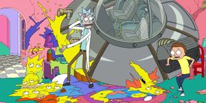 Rick and Morty Simpsons Couch Gag