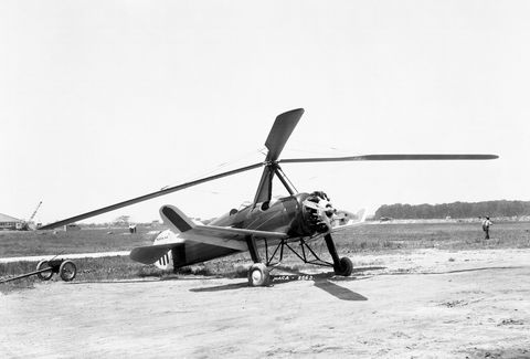 Autogyros are the true predecessors of flying cars and Harold F. Pitcairn's PCA-2 was sold on the mass market. It was the first rotary-wing aircraft to achieve type certification in the United States, and in one promotional stunt landed on the White House lawn during Herbert Hover's presidency.