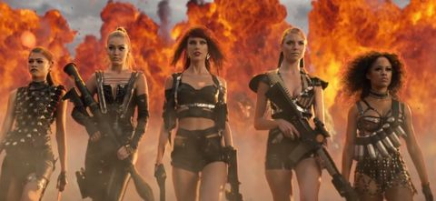 Taylor Swift Assembled Hot Friends and Action Movie References for One Kick-Ass Music Video