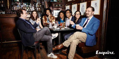 Shoe, Sitting, Drink, Barware, Furniture, Alcoholic beverage, Alcohol, Distilled beverage, Friendship, Drinkware,