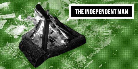Independent Man Outdoor Skills How to Build a Proper Campfire