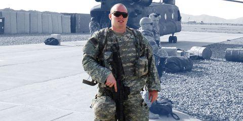 Richard Allen Smith at Kandahar Airfield in 2007.