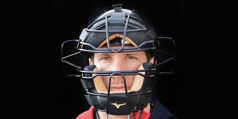 Major League Baseball Cleveland Indians Catcher Yan Gomes