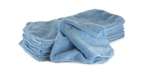 "An old rag just won't cut it if you're looking for an efficient home wash. Instead, pick up a quality <a target=""_blank"" href=""https://www.ecogreenautoclean.com/product/waterless-car-wash/freedom-microfiber-towels-blue/"">microfiber towel</a> for the job. This is where the cup (that's right, just a cup) of water comes in. ""When you take a wet microfiber towel, instead of scrubbing now you're just lifting off loose dirt."" According to Van Happen, the quality of towel is key to getting the job done right. ""It's important to use a microfiber towel that has a good pile height or a good thickness,"" he says. ""A lot of the cheap microfiber towels are very thin and there's nowhere for the dirt to fit in. That's one of the tricks: with a thicker microfiber towel, the dirt fits in the towel as opposed to above it and that's how you're not scratching the car."""