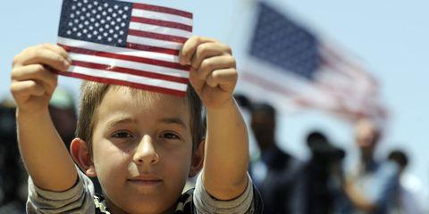 Finger, Flag of the united states, Hand, Flag, Wrist, Thumb, Gesture, Carmine, Nail, Flag Day (USA),