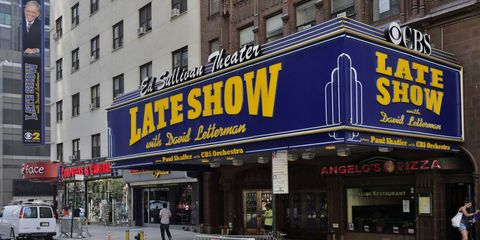 Late Show with David Letterman marquee