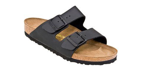 Brown, Tan, Khaki, Sandal, Beige, Buckle, Leather, Wedge, Strap, Slide sandal,