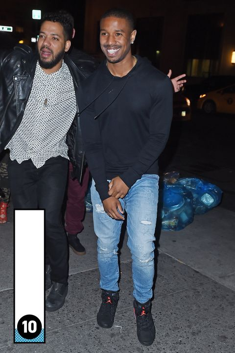 You look great in Air Jordans, Mr. Michael B. Jordan. Your friend looks wasted though.