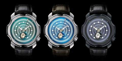 Product, Watch, Glass, Analog watch, Watch accessory, Font, Everyday carry, Azure, Metal, Black,