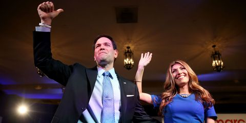Marco Rubio and his wife