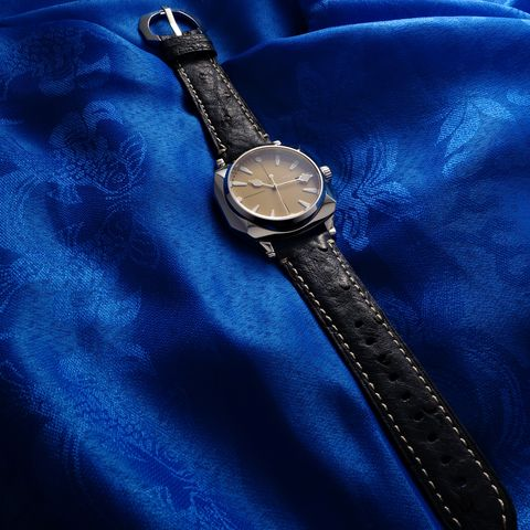 Watch, Wrist, Analog watch, Watch accessory, Everyday carry, Black, Metal, Electric blue, Strap, Material property,