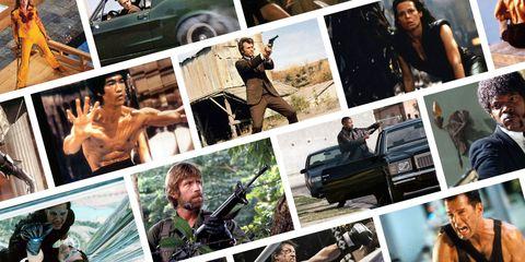 Human, Collage, Vehicle door, Muscle, Photography, Barechested, Shooting, Shotgun, Air gun, Hubcap,