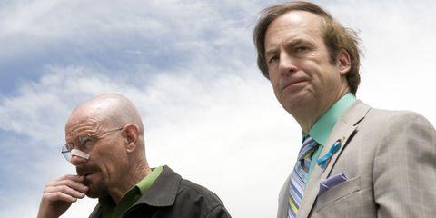 Walter White and Saul Goodman on Breaking Bad