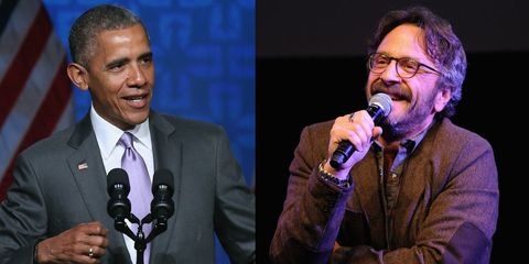 obama will appear on marc marcon's wtf