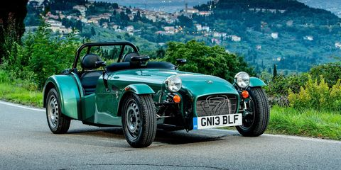 <p>How we wish we got the Seven 160 in the US. It has a three cylinder Suzuki engine with just 80 horsepower, which gets the lightweight Caterham to 60 in what seems like a leisurely 6.5 seconds... at least for a car that has a variant that can do it in 2.9.</p>