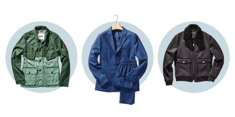 Blue, Product, Sleeve, Collar, Jacket, Textile, Outerwear, Coat, Fashion, Black,