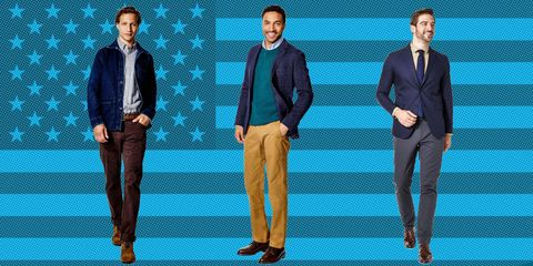 Footwear, Blue, Leg, Product, Dress shirt, Collar, Sleeve, Trousers, Coat, Suit trousers,