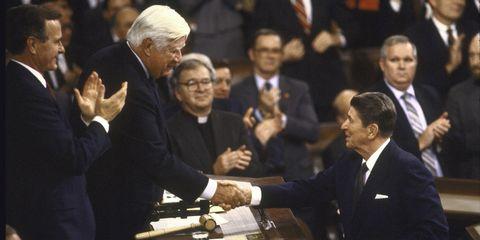 Tip O'Neill & Ronald Reagan