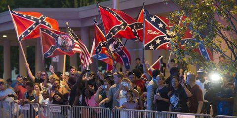 confederate flag wavers