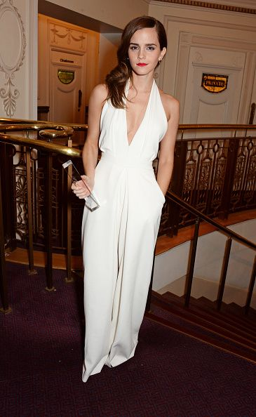 <p>In a Misha Nonoo jumpsuit with an Anya Hindmarch clutch at the British Style Awards in London.</p>