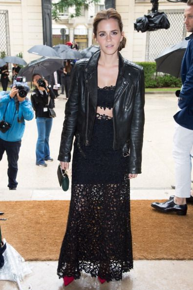 <p>In Valentino at the Valentino Couture show at Paris Fashion Week.</p>
