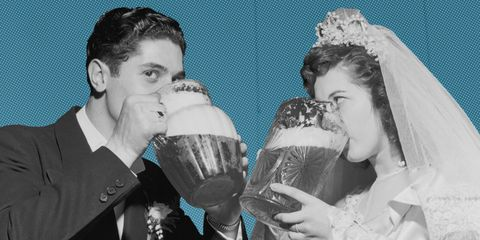 drink at wedding